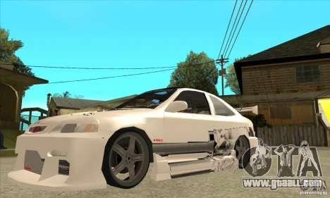 Honda Civic Tuning Tunable for GTA San Andreas bottom view