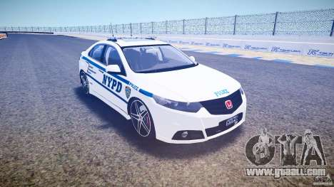 Honda Accord Type R NYPD (City Patro 1950l) ELS for GTA 4 back view
