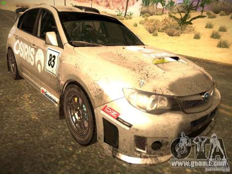 Subaru Impreza Gravel Rally for GTA San Andreas back left view