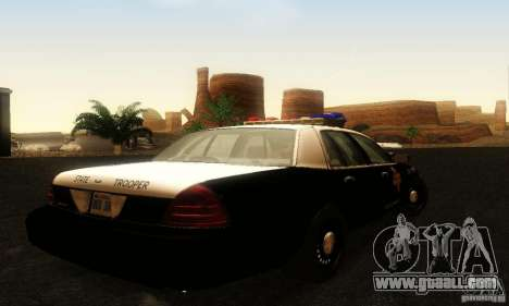 Ford Crown Victoria Texas Police for GTA San Andreas left view
