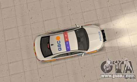 Ford Taurus 2011 Metropolitan Police Car for GTA San Andreas right view