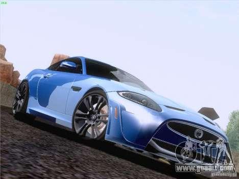Jaguar XKR-S 2011 V2.0 for GTA San Andreas bottom view