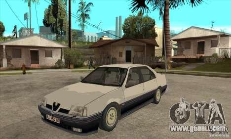 Alfa Romeo 164 for GTA San Andreas inner view