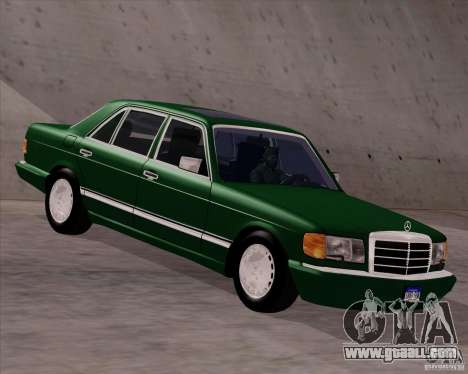 Mercedes-Benz 500SEL for GTA San Andreas back left view