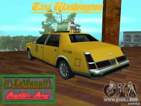 Taxi Washington for GTA San Andreas left view