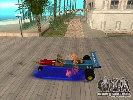 Dragg car for GTA San Andreas inner view