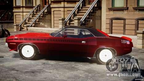 Plymouth Cuda AAR 340 1970 for GTA 4 inner view