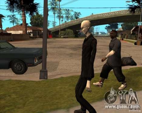 Slender in dark glasses for GTA San Andreas seventh screenshot
