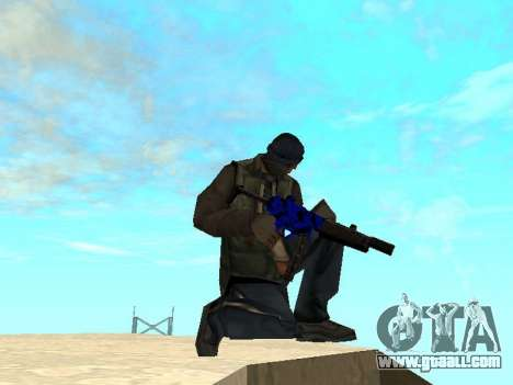 Blue and black gun pack for GTA San Andreas third screenshot