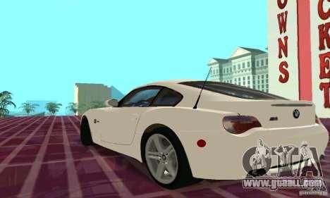 BMW Z4 E85 M for GTA San Andreas interior