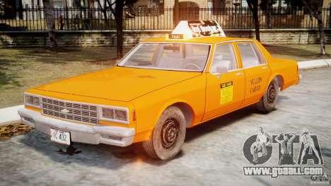Chevrolet Impala Taxi v2.0 for GTA 4 left view