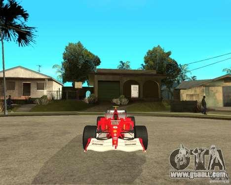Ferrari F1 for GTA San Andreas back view