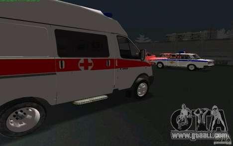 Gazelle 22172 ambulance for GTA San Andreas left view