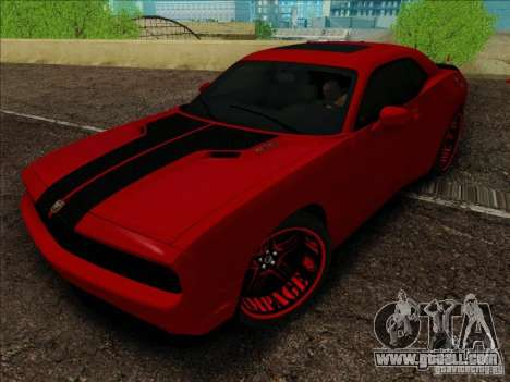 Dodge Quinton Rampage Jackson Challenger SRT8 v1 for GTA San Andreas right view