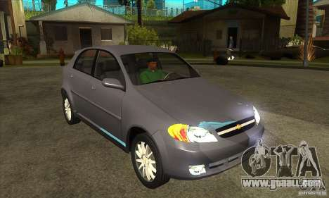 Chevrolet Optra 2011 Hatchback for GTA San Andreas back view