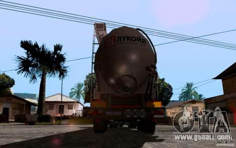 Trailer of Lukoil for Mercedes-Benz Actros for GTA San Andreas back left view