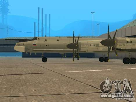 Tu-95 for GTA San Andreas right view