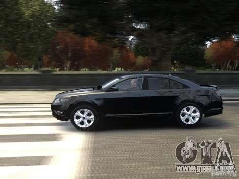 Ford Taurus FBI 2012 for GTA 4 left view