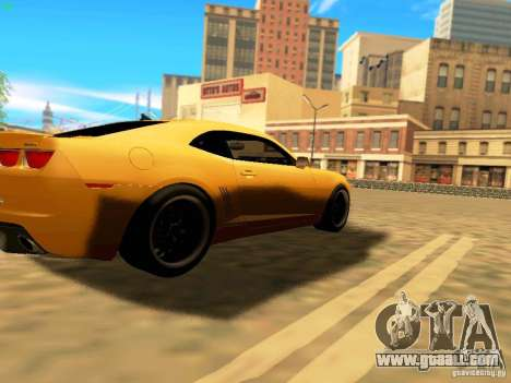 Chevrolet Camaro SS 2010 for GTA San Andreas back view