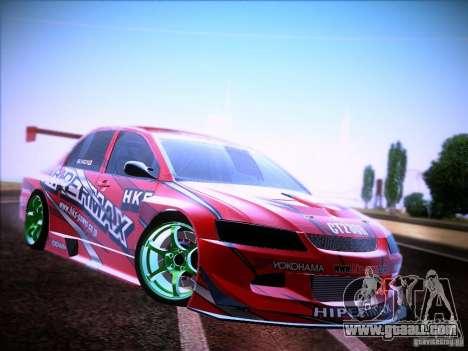 Mitsubishi Lancer Evolution 9 Hypermax for GTA San Andreas right view