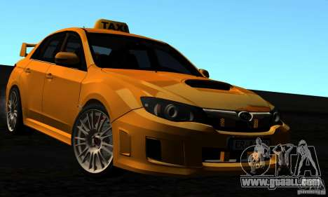 Subaru Impreza WRX STi 2011 TAXI for GTA San Andreas interior