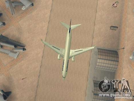 Boeing 737-800 Lufthansa for GTA San Andreas side view