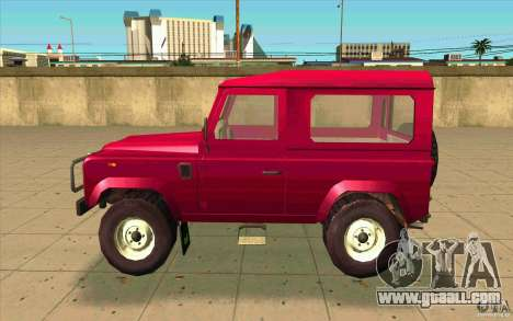 Land Rover Defender 90SW for GTA San Andreas left view