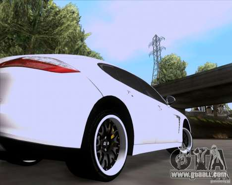 Porsche Panamera 970 Hamann for GTA San Andreas back view
