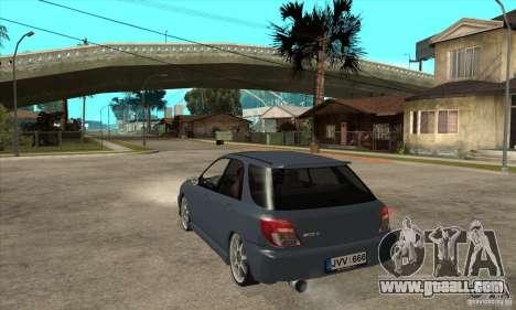 Subaru Impreza Universal for GTA San Andreas back left view