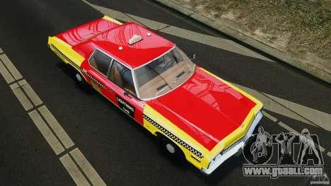 Dodge Monaco 1974 Taxi v1.0 for GTA 4 interior