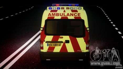 Renault Master 2007 Ambulance Scottish for GTA 4 engine