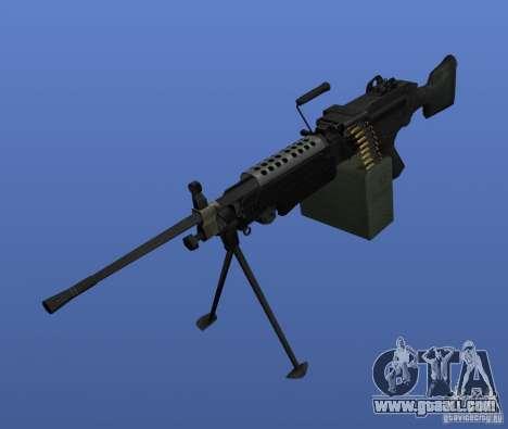 Machine Gun M249SAW for GTA 4