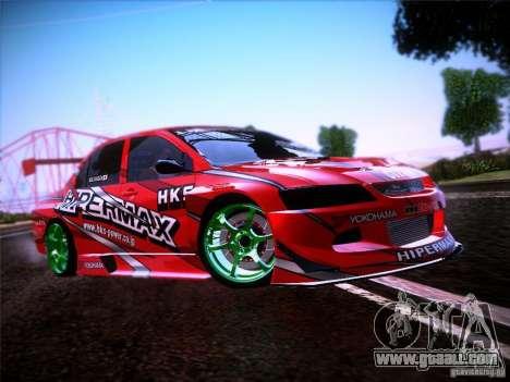 Mitsubishi Lancer Evolution 9 Hypermax for GTA San Andreas side view