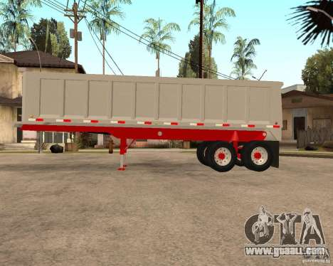 Artict3 Dump Trailer for GTA San Andreas left view