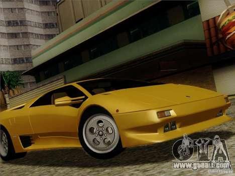 Lamborghini Diablo VT 1995 V3.0 for GTA San Andreas upper view