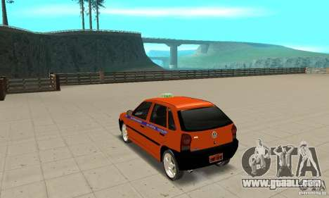 Volkswagen Gol G4 Taxi for GTA San Andreas back left view