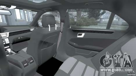 Mercedes-Benz E63 AMG for GTA 4 inner view