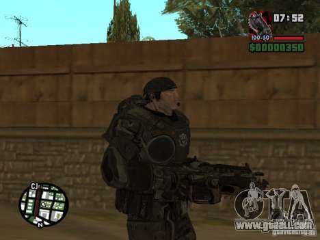 Marcus Fenix from Gears of War 2 for GTA San Andreas second screenshot