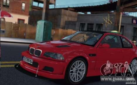 BMW M3 Street Version e46 for GTA 4 left view