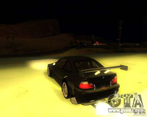 BMW E46 M3 GTR - Stock for GTA San Andreas left view