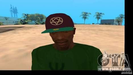 Baseball Cap with the logo of the band HIM for GTA San Andreas third screenshot