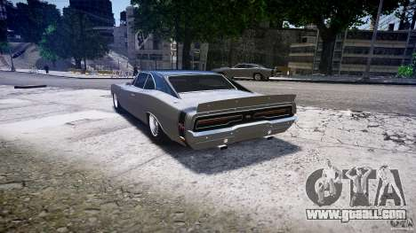 Dodge Charger RT 1969 tun v1.1 low ride for GTA 4 back left view