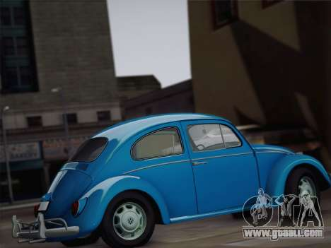 Volkswagen Beetle 1967 V.1 for GTA San Andreas inner view