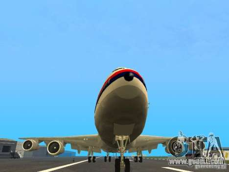 Boeing 747-100 Japan Airlines for GTA San Andreas back view