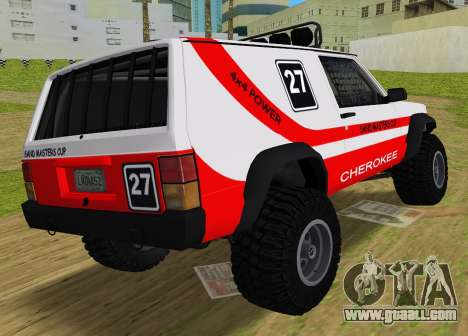 Jeep Cherokee 1984 Sandking for GTA Vice City left view