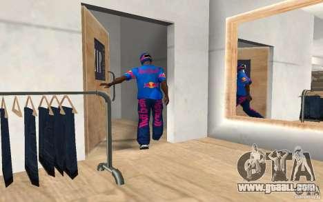 Red Bull Clothes v2.0 for GTA San Andreas third screenshot