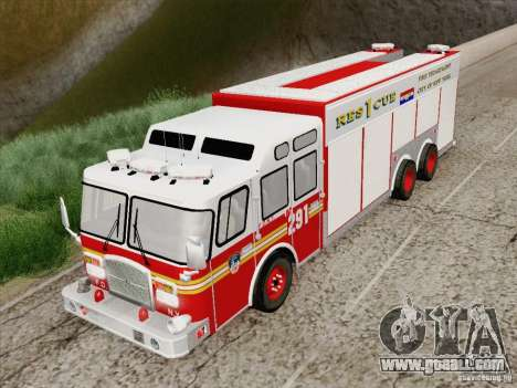 E-One F.D.N.Y Fire Rescue 1 for GTA San Andreas back view