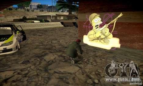 Simpson Graffiti Pack v2 for GTA San Andreas