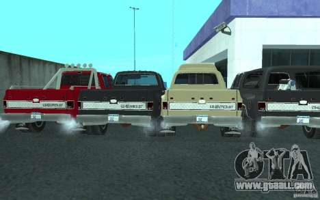 Chevrolet Silverado 3500 for GTA San Andreas bottom view