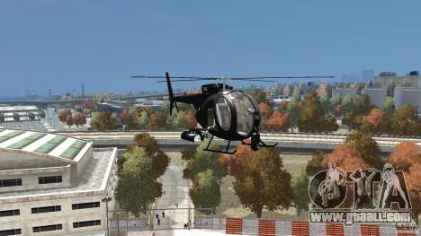 AH-6 LittleBird Helicopter for GTA 4 back view